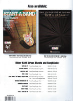 Keith Urban Tonight I Wanna Cry Sheet Music Piano Vocal Guitar