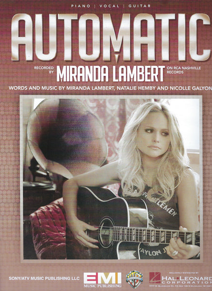 Miranda Lambert Automatic Sheet Music