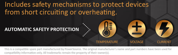Includes Safety Mechanisms to protect devices from short-circuiting or overheating. Automatic Safety Protection for Temperature, Voltage, and Current