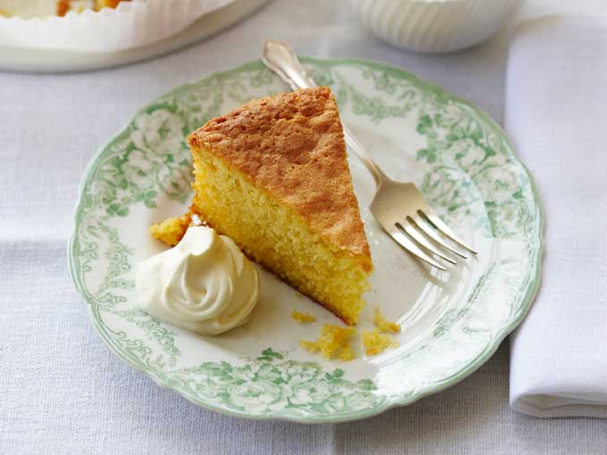 Recipe :  Lemon Polenta Cake