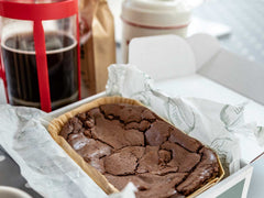 HOPE & JOY fathers day hamper, cornishware mug, chocolate brownie !