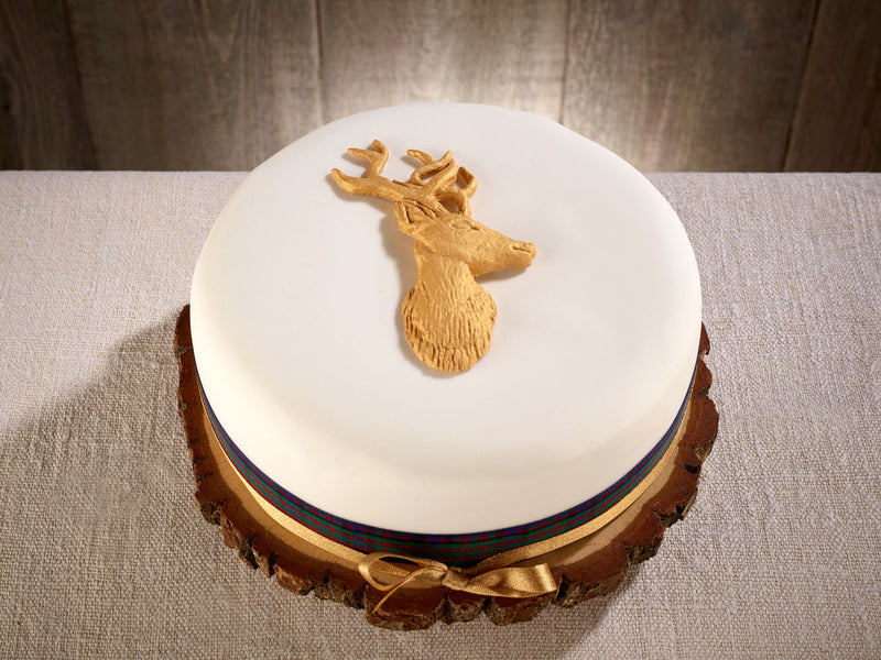 Limited Edition Stag Classic Fully Iced Christmas Cake