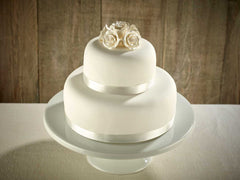 White Roses Two Tier Wedding Cake !