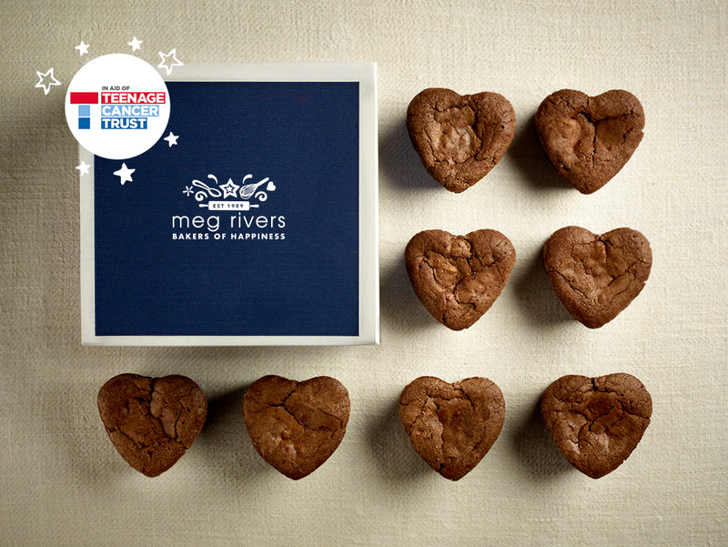 Heart Shaped Chocolate Brownies x 8