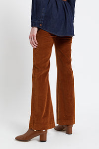 Ottod'ame - pantalone flare in velluto