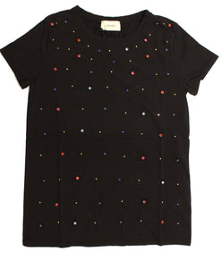 Vicolo - T shirt con diamanti
