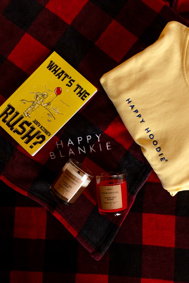 Happy Box (Happy Hoodie, Water Bottle, Candle and Book)