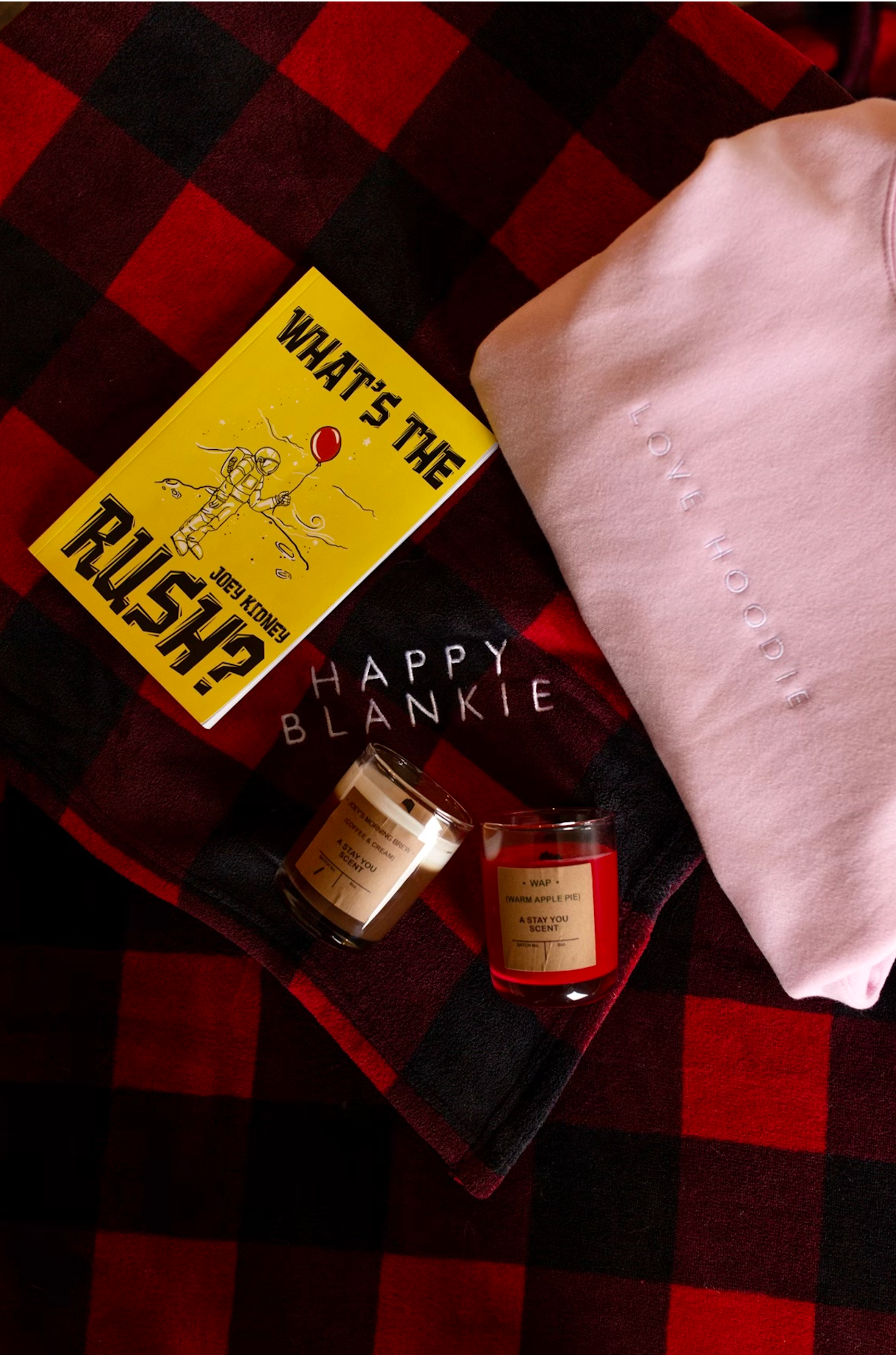 'Love' Box (Love Hoodie, Happy Blankie, Candle and Book)