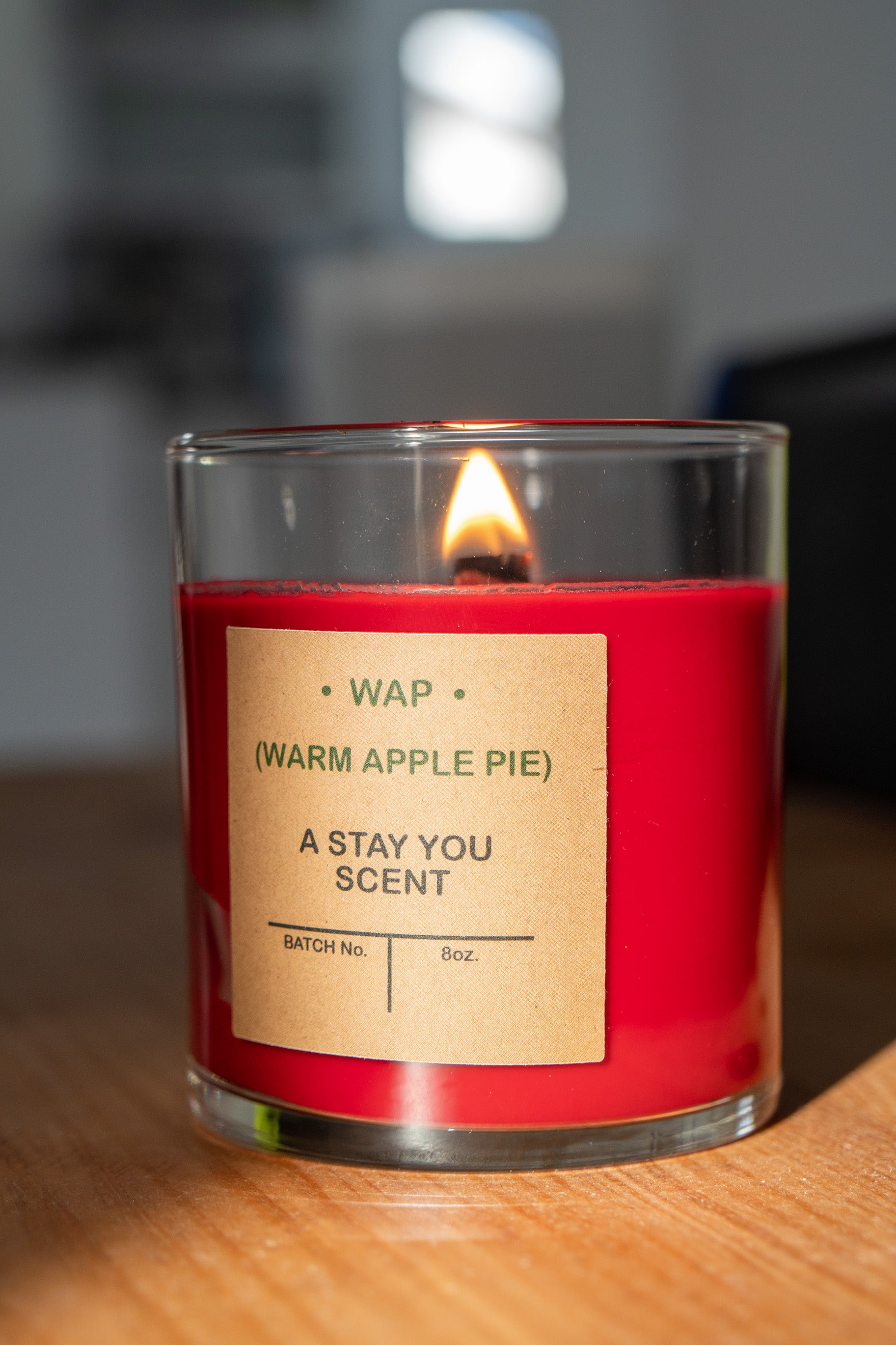 'WAP' Candle 12oz Soy Wax Candle 'Warm Apple Pie'
