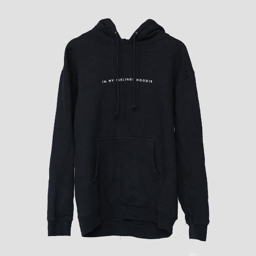 'In My Feelings Hoodie' Embroidered in Midnight Blue