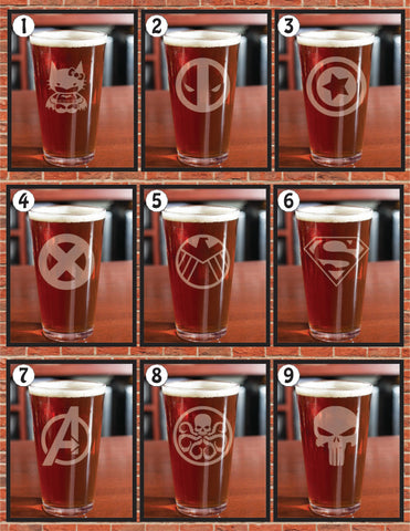 Games Glassware Series 1