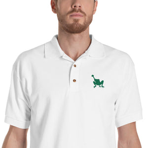 Embroidered Justice For Frogs Polo Shirt