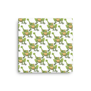 Canvas Justice For Frogs print