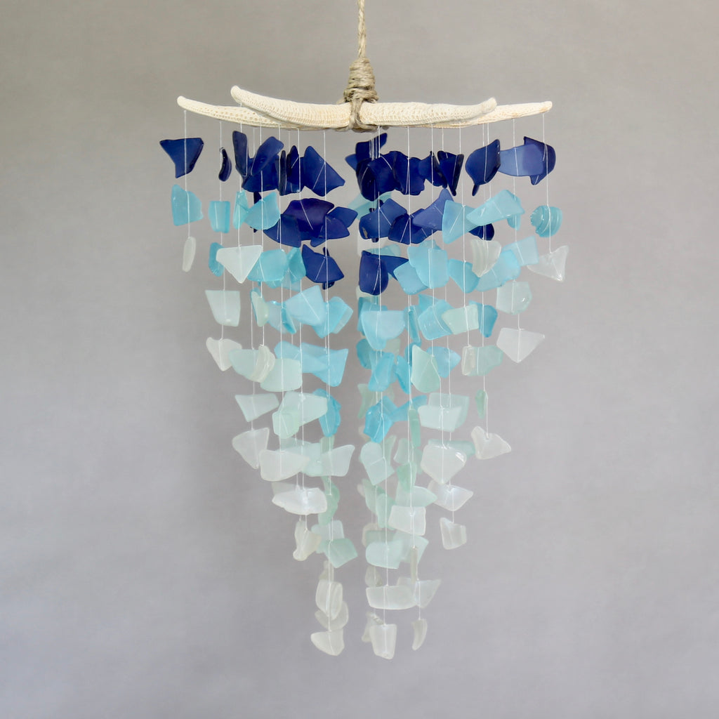 Sea Glass & Starfish Mobile - Grand in Royal Ombre