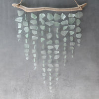 Sea Glass & Driftwood Mobile - Aquamarine Dream