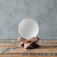 White Seaglass Ball