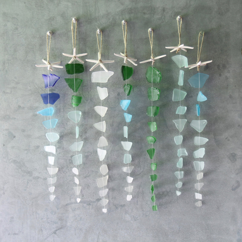 Sea Glass Suncatcher - Starfish Top