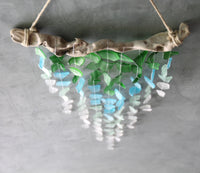 Sea Glass & Driftwood Mobile - Ocean Ombre