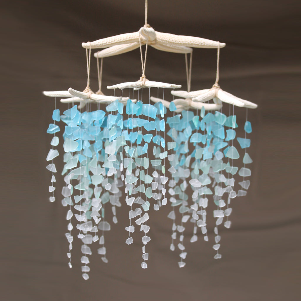 Sea Glass & Starfish Mobile - Colossal Ombre