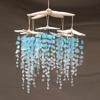 Sea Glass & Starfish Mobile - Colossal Ombre Chandelier