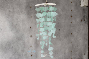 Sea Glass & Starfish Mobile - Solid Seafoam - TheRubbishRevival