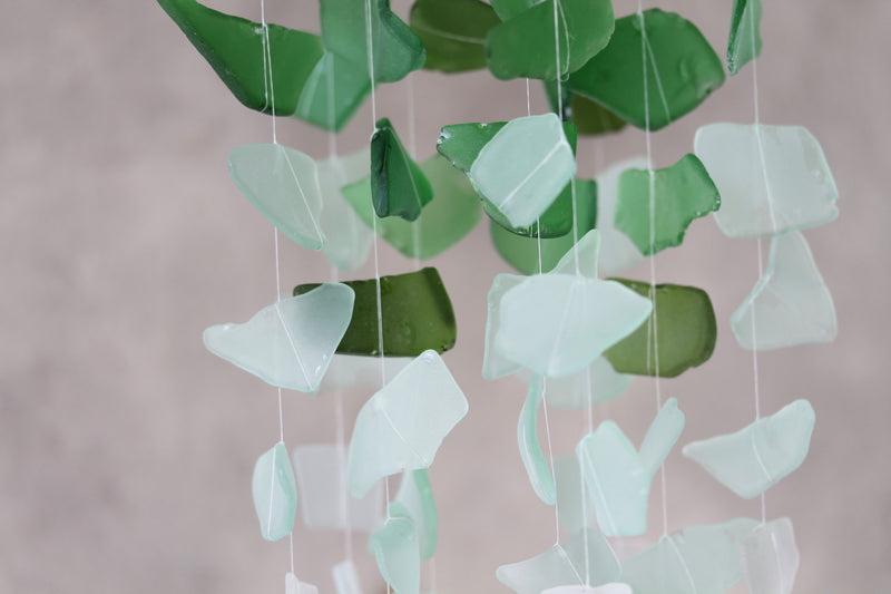 Sea Glass & Starfish Mobile - Ombre Green - TheRubbishRevival