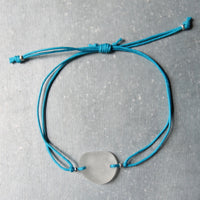 Sea Glass & Cotton Bracelet - TheRubbishRevival