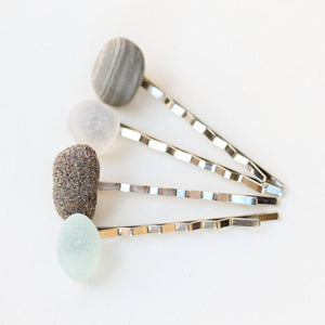 Sea Glass & Stone Bobby Pins - TheRubbishRevival
