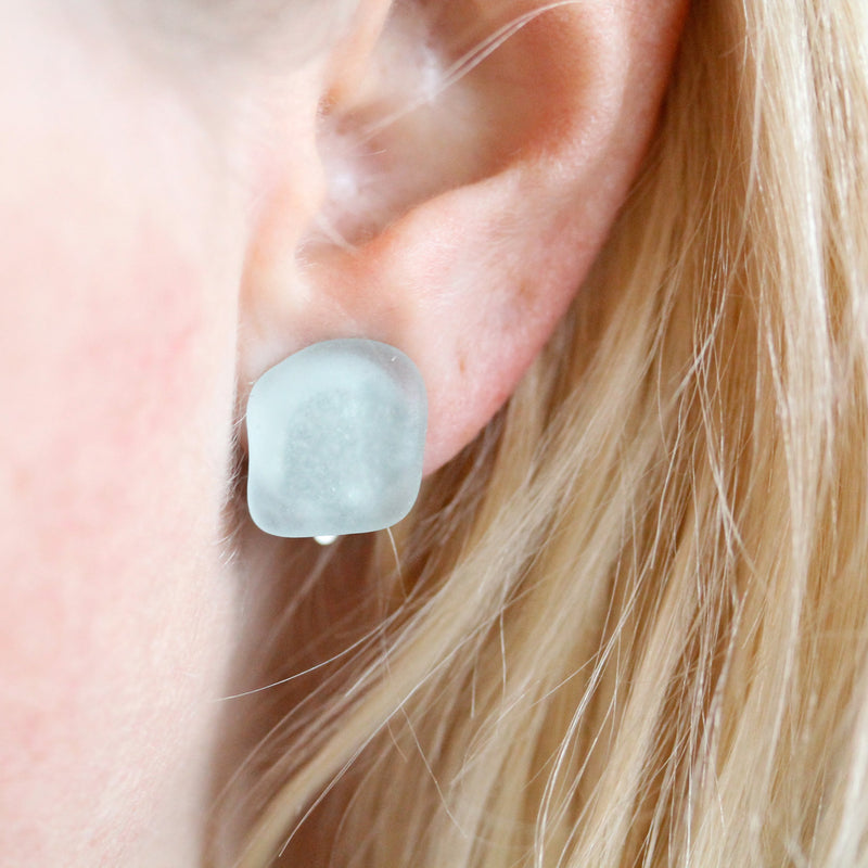 Sea Glass Clip-on Earrings - TheRubbishRevival