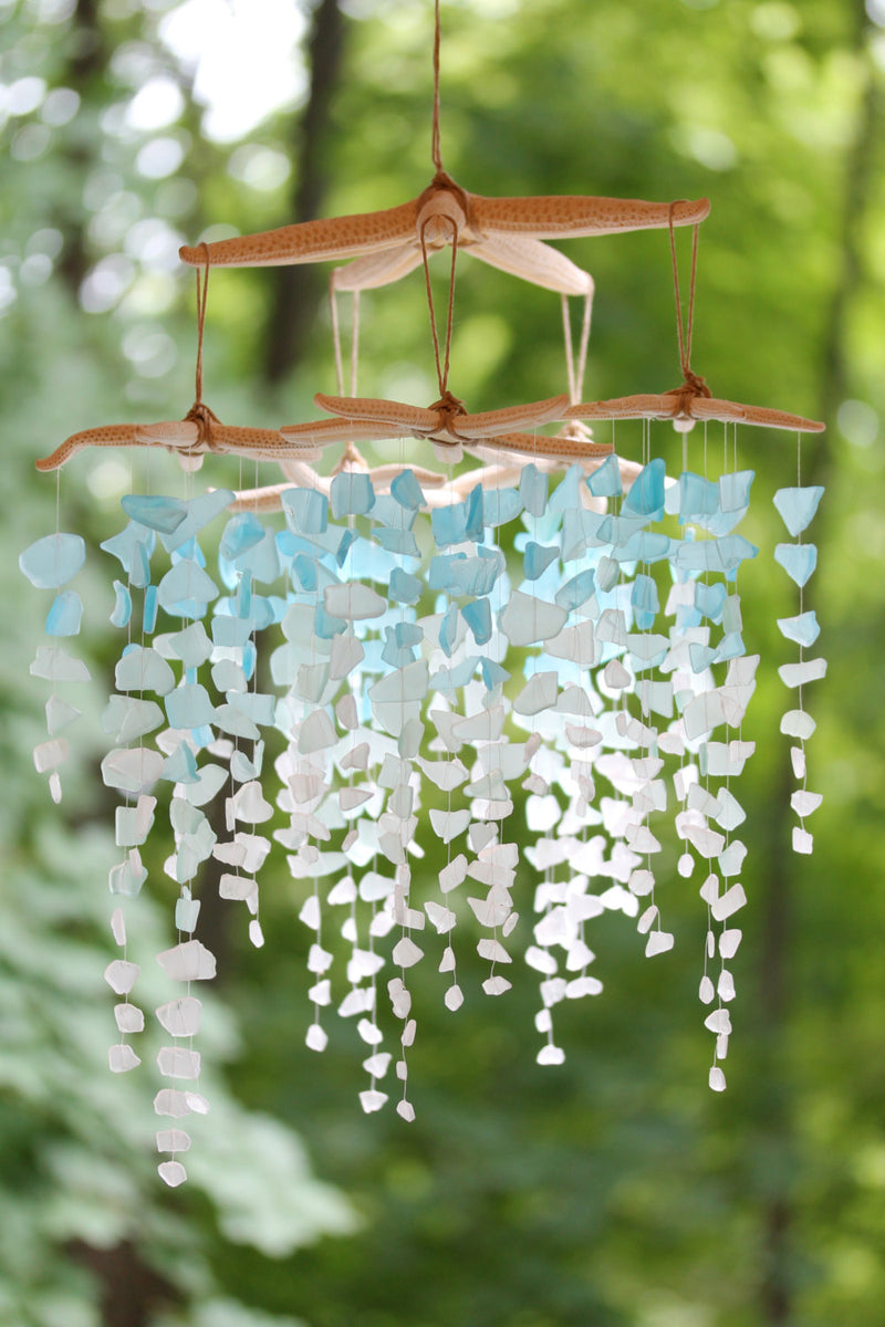 Sea Glass & Starfish Mobile - Colossal Ombre - TheRubbishRevival