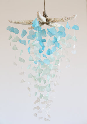 Sea Glass & Starfish Mobile - Grand Ombre - TheRubbishRevival
