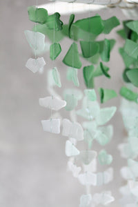 Sea Glass & Starfish Mobile - Grand in Green Ombre - TheRubbishRevival
