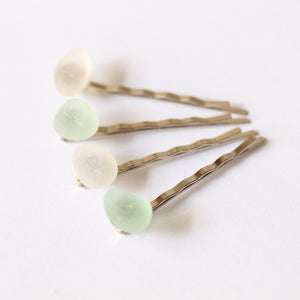Sea Glass Bobby Pins - TheRubbishRevival