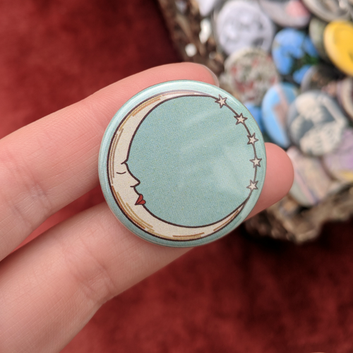 Moon & Stars Button