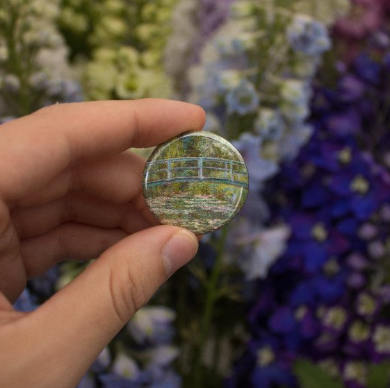 Monet Pinback Button