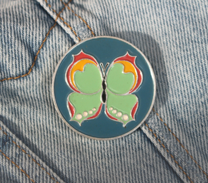 Vintage Blue Butterfly Pin