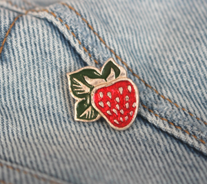 Vintage Strawberry Pin