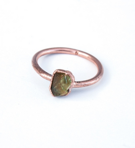 Peridot & Copper Ring