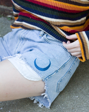 Embroidered Moon Shorts