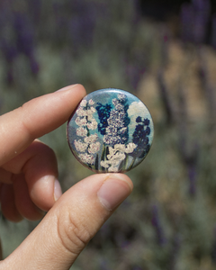 Botanical Illustration Button