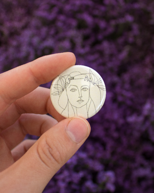 Picasso Sketch Button