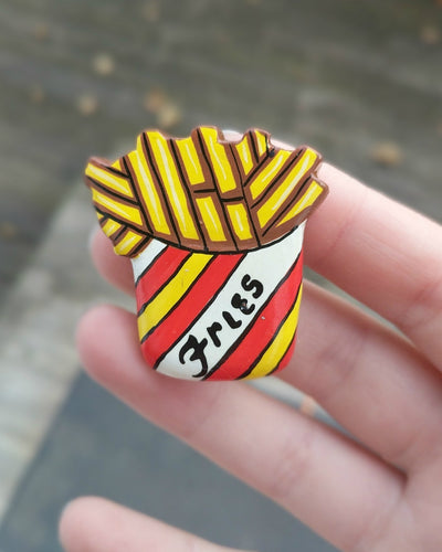 Handmade Vintage Fries Pin