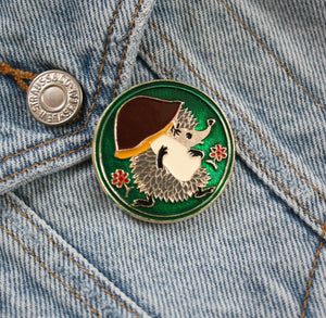 Vintage Hedgehog Pin
