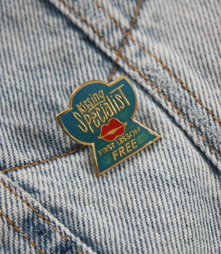 Vintage Kissing Booth Pin