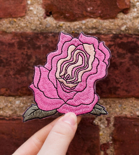 Wavy Rose Patch