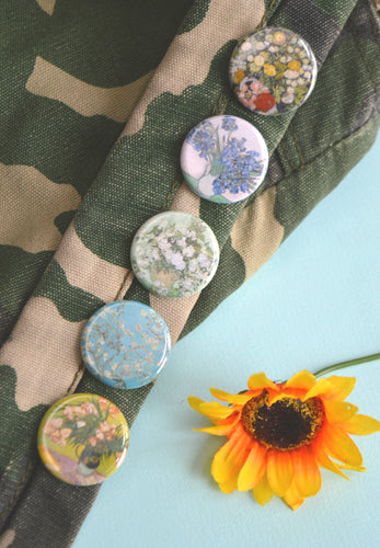 Van Gogh Floral Button Set