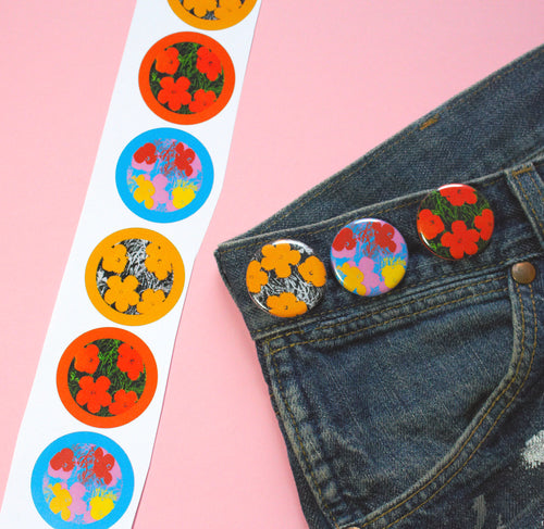 Warhol Marigolds Button Pack