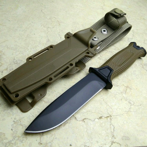 Hunting Knife Tactial knives Full or Serrated Fixed Blade + Sheath