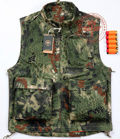 Python Pattern Camouflage Vest Outdoor Hunting Camping