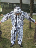3D white snow plum ghillie suit